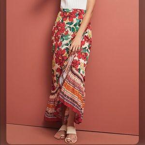 NWT Anthropologie Farm Rio Wrap Skirt XS